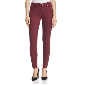 7 for All Mankind Skinny b(air) Jeans Maroon